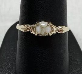 Ladies Gold in Quartz Ring RL681Q5MM