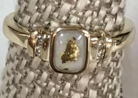 Good in Quartz with Diamond Ring RL680D6Q