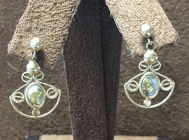 Good in Quartz Dangle Post Ear Rings EN423Q/PD