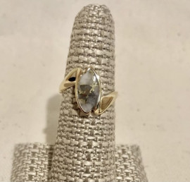 Ladies Natural Gold in Quartz Ring RL972Q