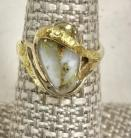 Ladies Gold in Quartz Ring RL5499LQ