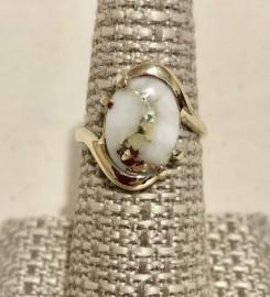 Ladies Gold in Quartz Ring RL994LQ