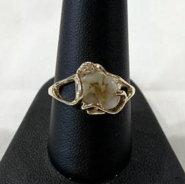 Ladies Gold n Quartz Ring RL1079DQ