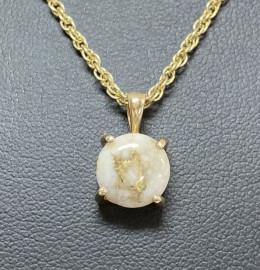 Natural Gold in Quartz Pendant P10MMQX(B)