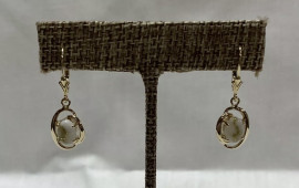 Ladies Leaver Back Gold in Quartz Earrings EN805Q/LB
