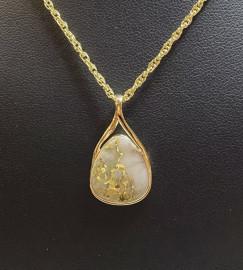 Ladies Gold in Quartz Pendant PN767QX