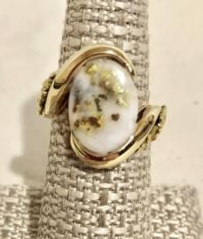 Ladies Gold and Quartz Ring RL1002NQ
