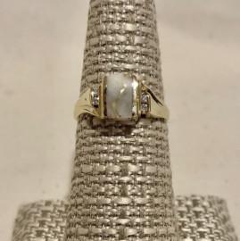 Ladies Gold in Quartz Ring RL743D6Q(B)