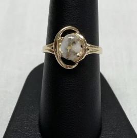 Ladies Gold in Quartz Ring RL805Q