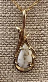 Gold in Quartz Pendant PN377QX