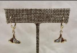 Whale Tail Good In Quartz Dangle Ear Rings EDLWT12Q/LB