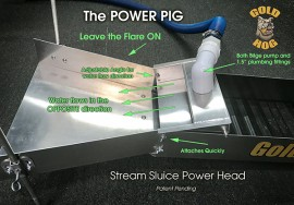 Power Pig Stream Sluice power Head