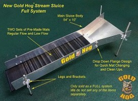 Gold Hog Stream Sluice